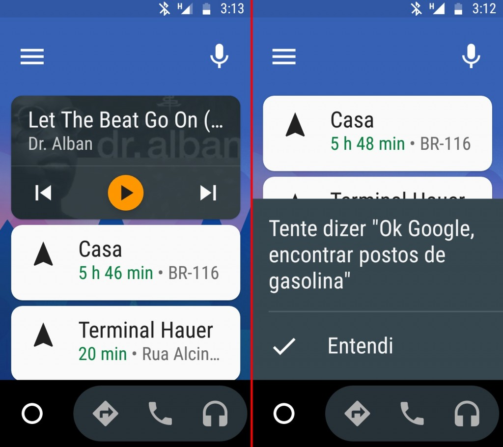 android auto tela inicial