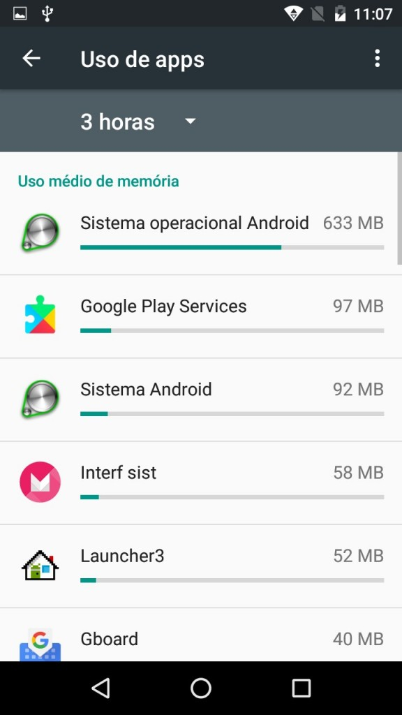 truques do android memoria